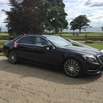 The Mercedes S class AMG sports luxury limousine