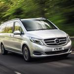 The Luxurious Mercedes V class people carrier wedding car with extra legroom