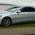 The Luxurious Mercedes S class wedding car with extra legroom