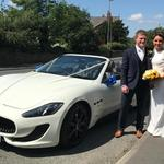 The Maserati thrill drive wedding experience...guaranteed smiles...