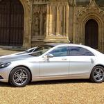 The Mercedes S class sports luxury limousine