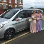 The Mercedes V class luxury people carrier seats 6